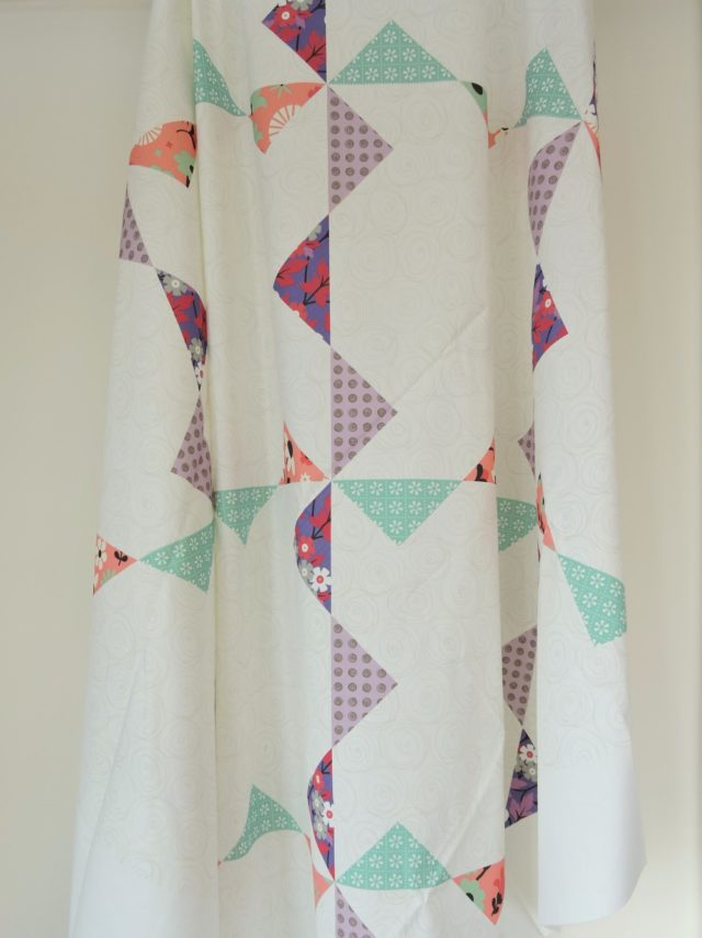 Bunting quilt top