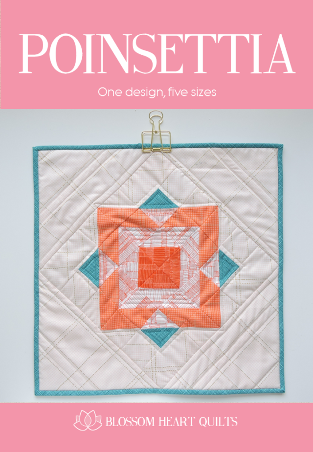 Poinsettia quilt pattern cover