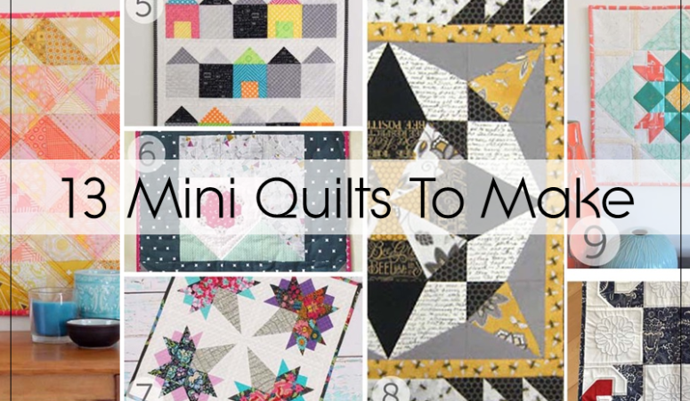 13 Mini Quilt Tutorials To Whip Up For Christmas