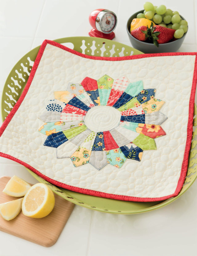 Dresden Candy Dish quilt from Teach Me To Machine Quilt - a book review on Pat Sloan's latest book on BlossomHeartQuilts.com