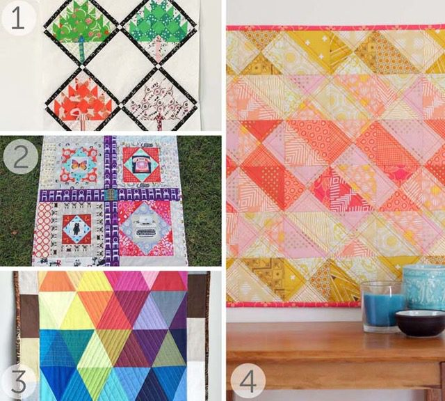 Easy mini quilt tutorials - see more at BlossomHeartQuilts.com