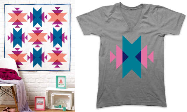 Emblematic quilt and T-shirt