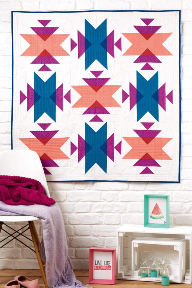Emblematic quilt pattern by BlossomHeartQuilts.com