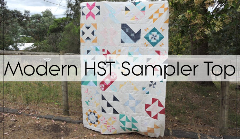 My Modern HST Sampler Quilt Top
