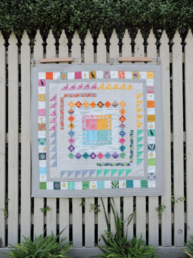 Made Modern In Australia medallion quilt by BlossomHeartQuilts.com