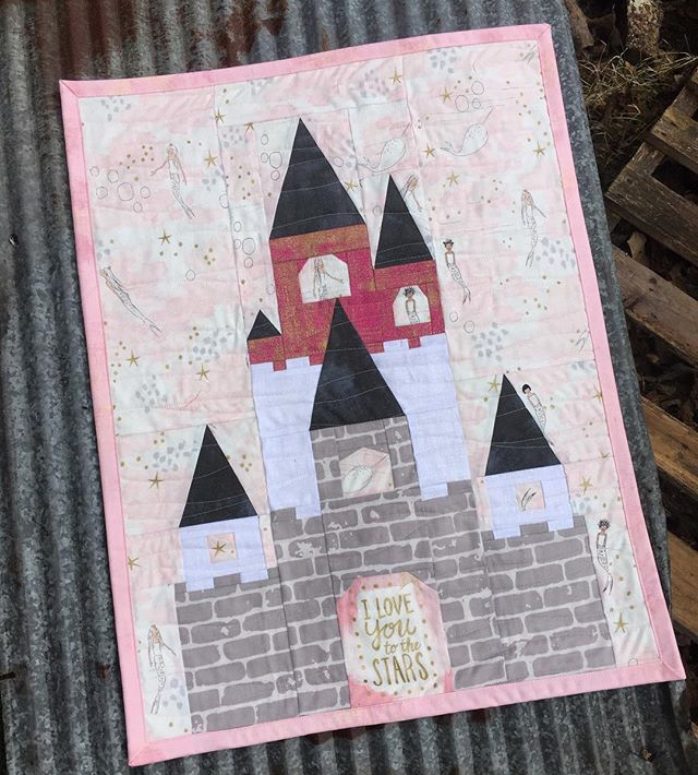 Fairy Tale Castle mini quilt