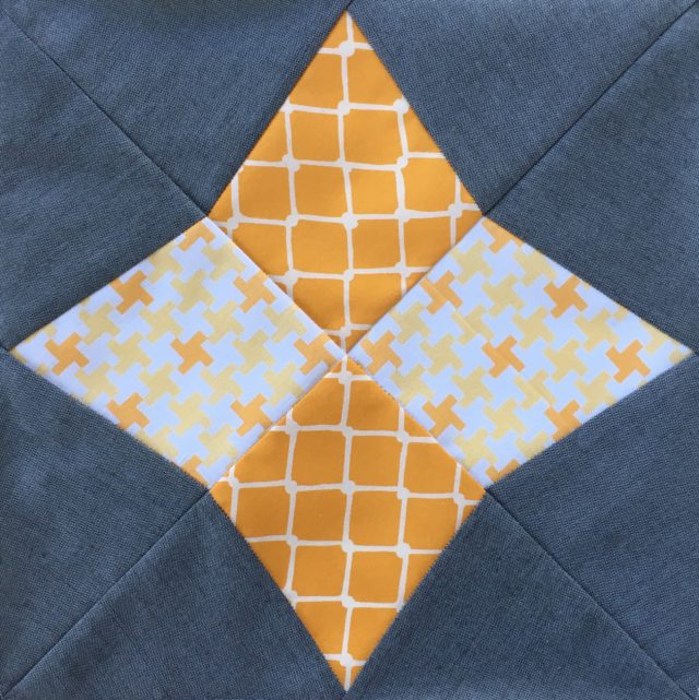 Arcturus quilt block from the Milky Way Sampler at BlossomHeartQuilts.com