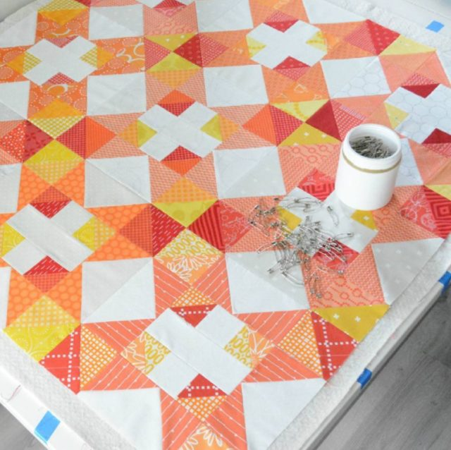 Autumn Chain quilt by katgraycraft, pattern at BlossomHeartQuilts.com