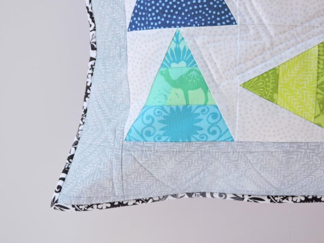 Distractions pillow pattern by BlossomHeartQuilts.com using Jasmine by Valori Wells
