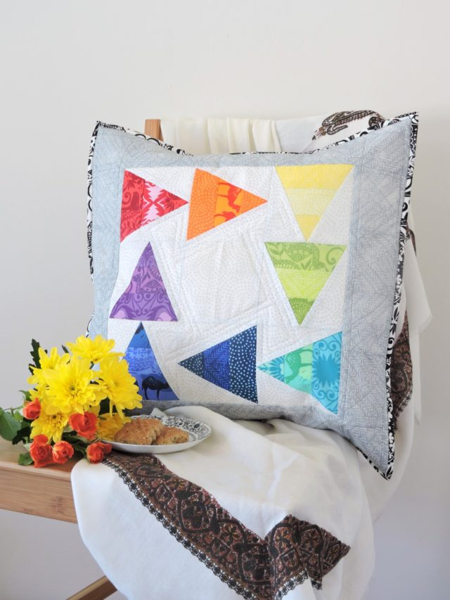 Distractions pillow pattern by BlossomHeartQuilts.com