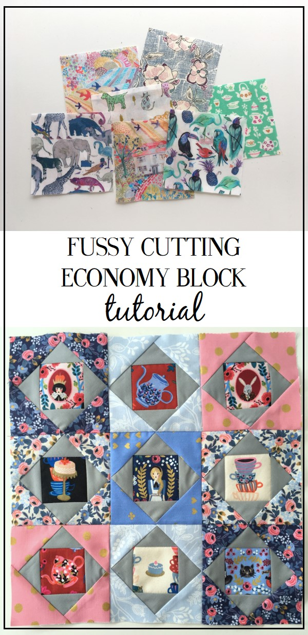 Fussy Cutting Tutorial 4 Quot Economy Block Pattern