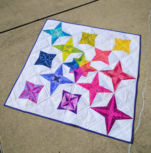 Milky Way Sampler quilt by sewsweetness