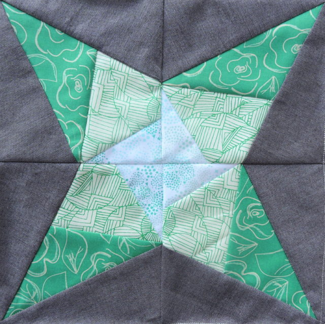 Vega quilt block from the Milky Way Sampler at BlossomHeartQuilts.com
