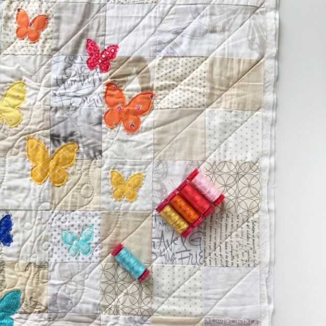 Aurifil Artisan 12wt rainbow butterflies by BlossomHeartQuilts.com