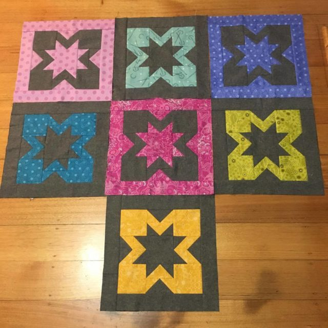 Geode quilt blocks by Kate