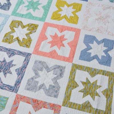 Geode quilt pattern by BlossomHeartQuilts.com