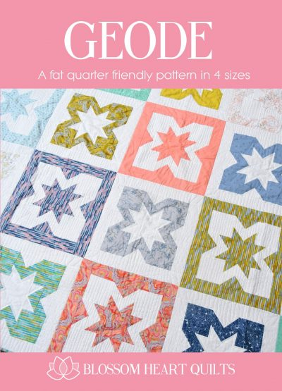 Geode quilt pattern front cover by Blossom Heart Quilts