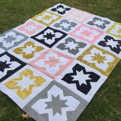 Geode throw quilt by Rebecca