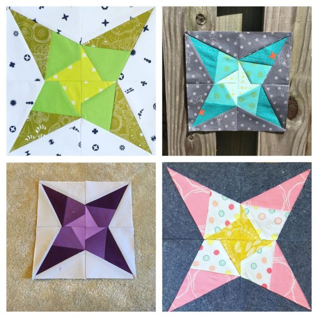 Vega foundation paper pieced star blocks from the Milky Way Sampler by BlossomHeartQuilts.com