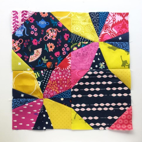 Wanta Fanta quilt block made from the free pattern on BlossomHeartQuilts.com