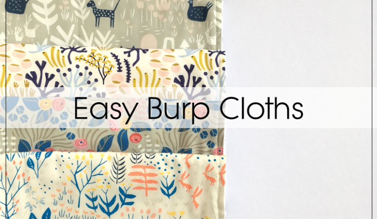 Quick And Easy Baby Burp Cloths