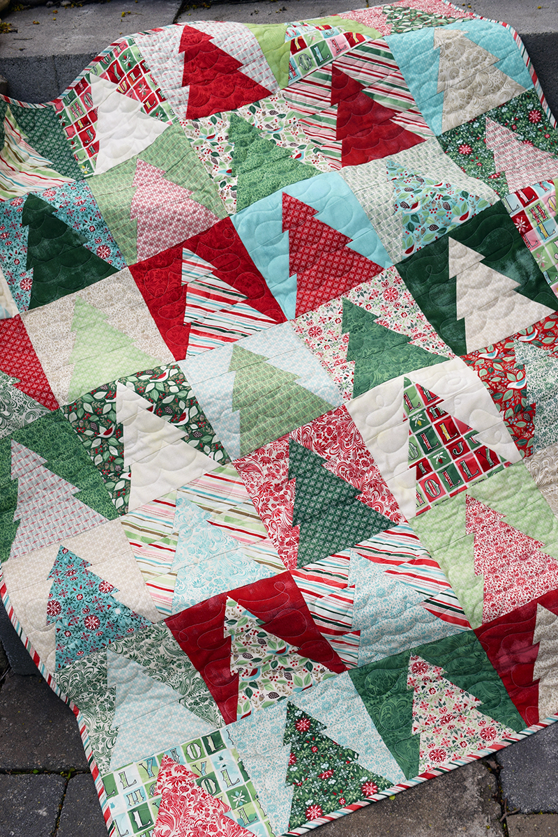 the cloth parcel woodland wander quilt small by audrey mann