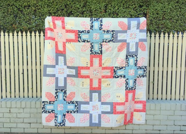 The Symphony quilt pattern by Fat Quarter Shop made in Charleston fabric by Amy Sinibaldi for Art Gallery Fabrics by BlossomHeartQuilts.com