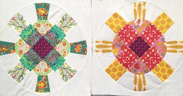 Cog and Wheel quilt blocks by BlossomHeartQuilts.com