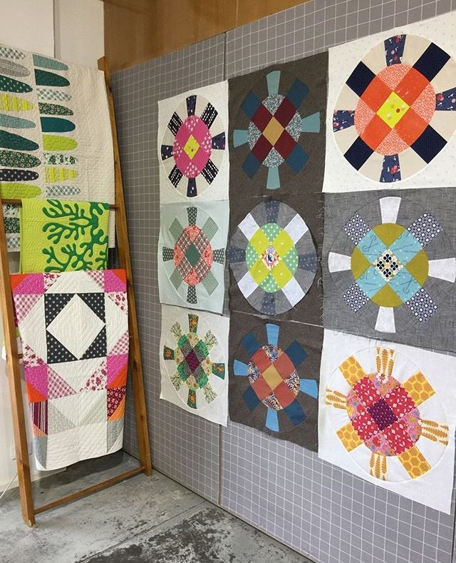 Cog and Wheel quilt blocks with Denyse Schmidt
