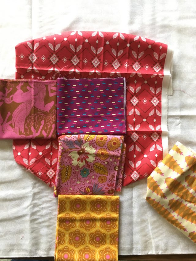 Planning Cog and Wheel quilt blocks with Anna Maria Horner fabric