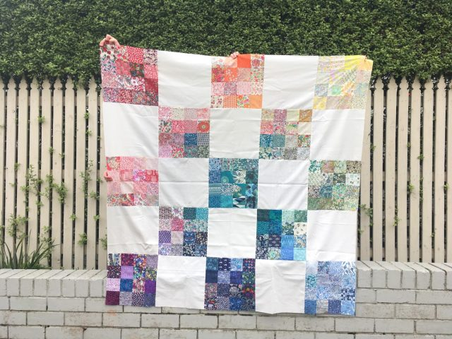 Rainbow Liberty quilt blocks by BlossomHeartQuilts.com