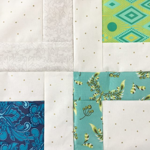 Rotate quilt blocks for Geode pattern by BlossomHeartQUilts.com