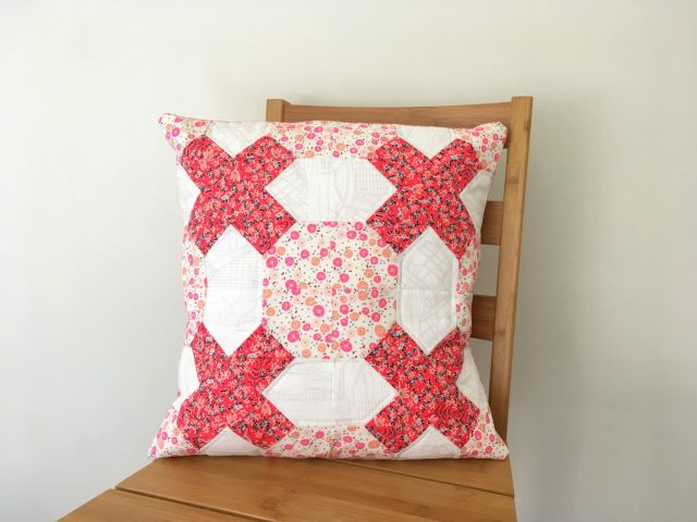 Tic Tac Toe cushion with AccuQuilt Australia by BlossomHeartQuilts.com