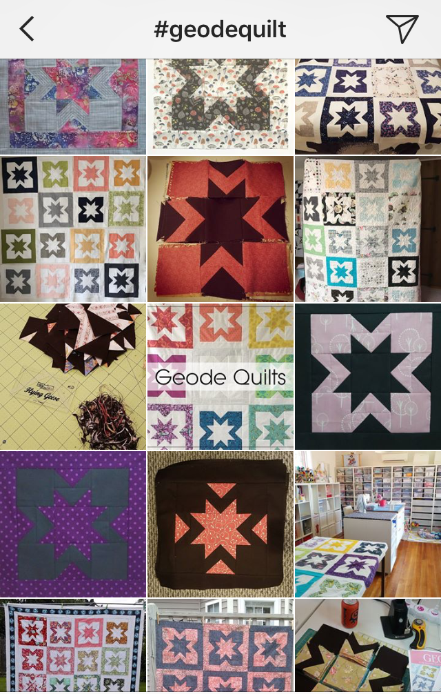 Geode quilts on Instagram