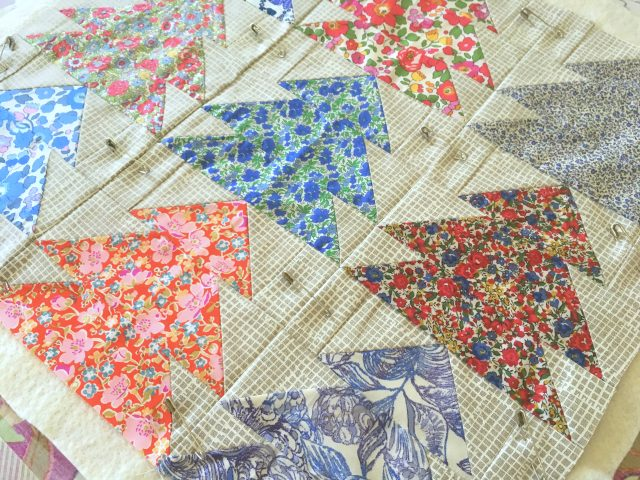 How to baste a quilt with pins