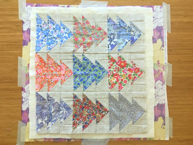 How to pin baste a quilt quilt sandwich