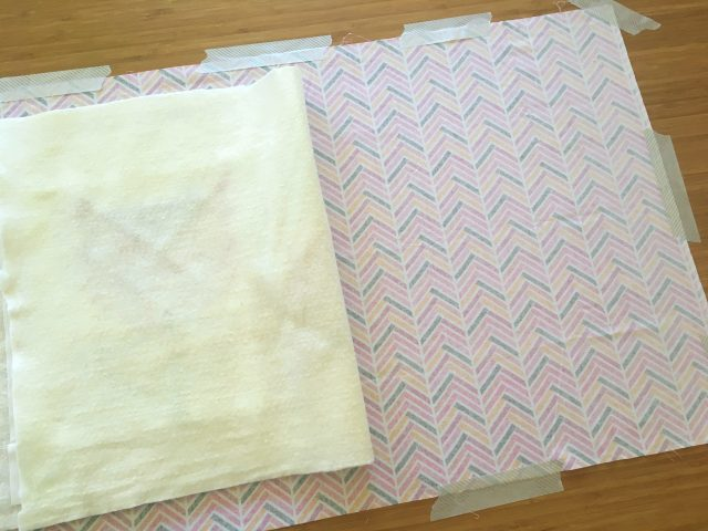 How to spray baste a quilt with layers