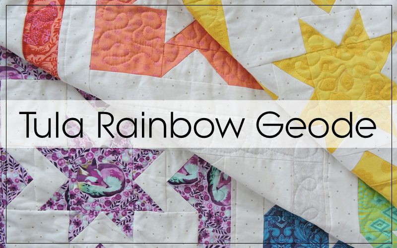 A Tula Pink Rainbow Quilt