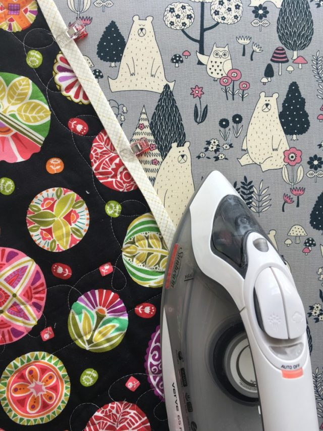 How to machine bind a quilt iron well