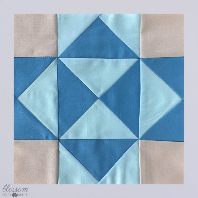 Flying geese and quarter square triangles quilt block