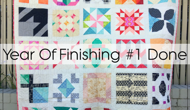 Year Of Finishing: The Bee Hive Sampler Quilt Finished