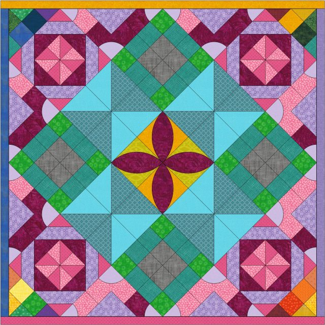 7 year old girl designs quilt in EQ8