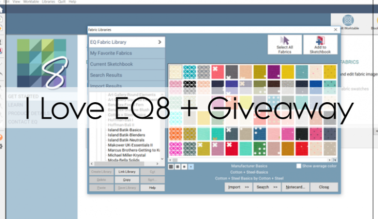 Why I EQ8 + Giveaway