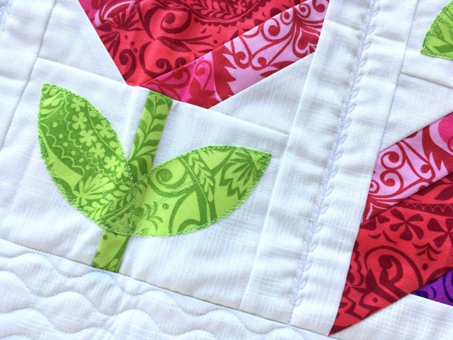 Using decorative stitches as quilting
