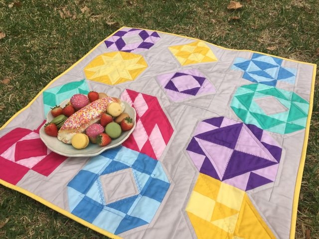 AccuQuilt 8 inch Qube sampler quilt by BlossomHeartQuilts.com