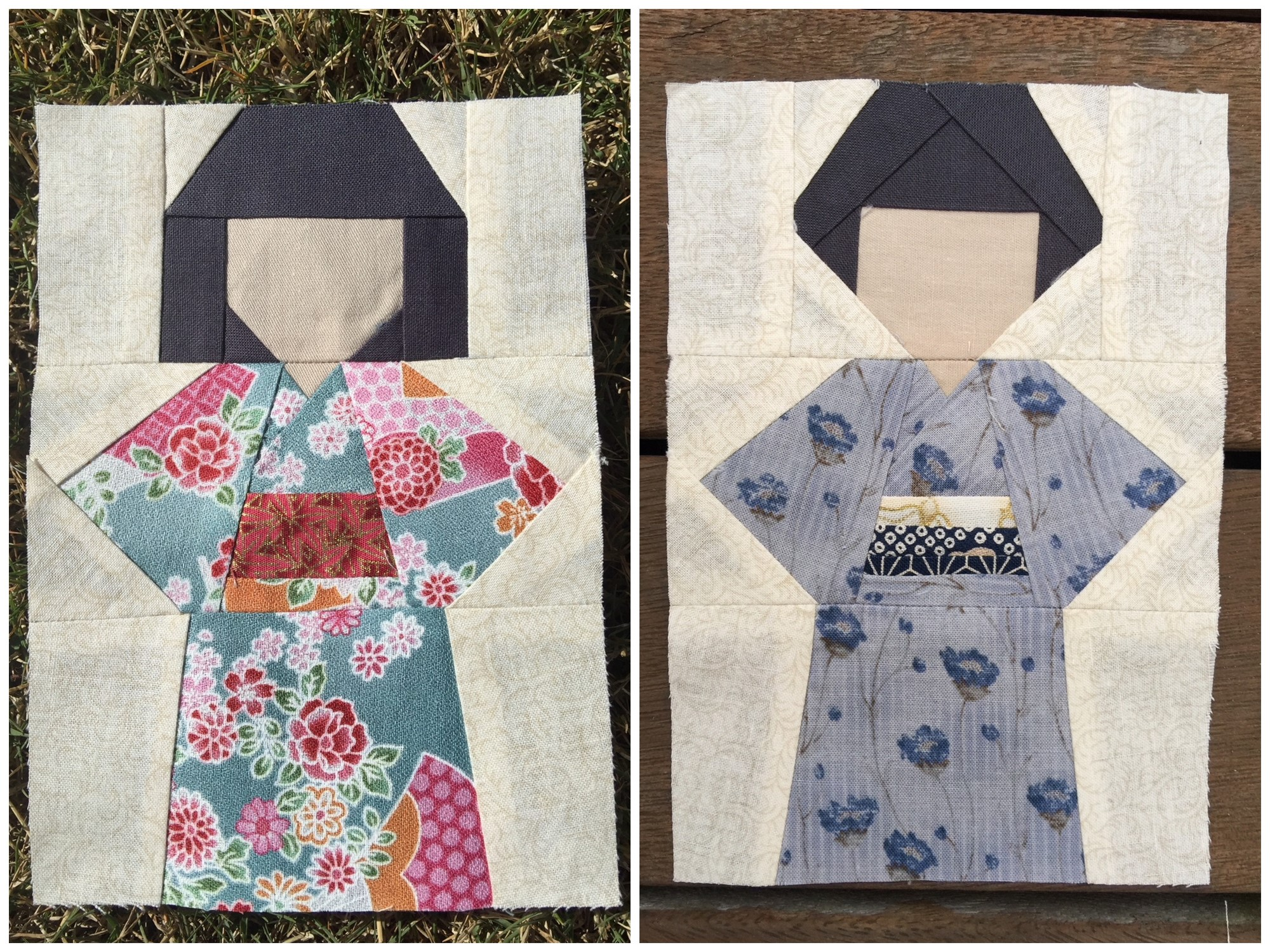Kokeshi Doll Quilt Block Pattern Blossom Heart Quilts