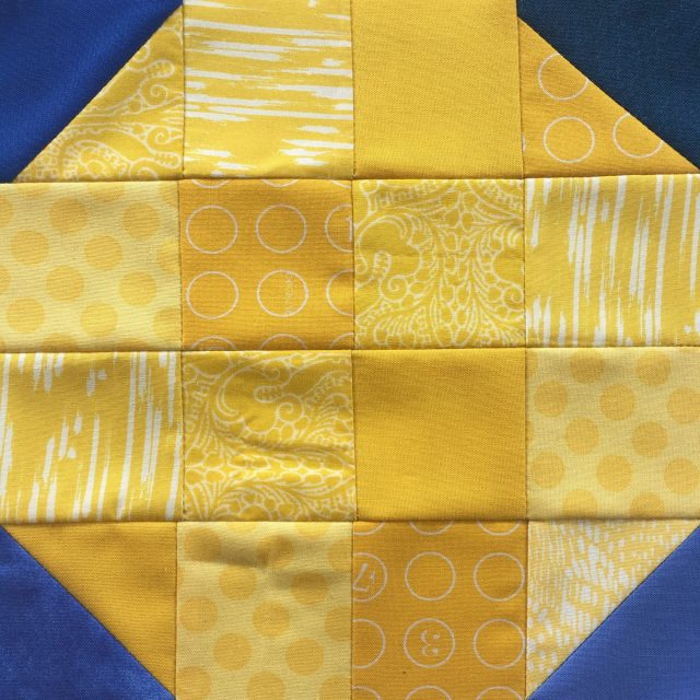 Stellar BOM with AccuQuilt Block 1 by BlossomHeartQuilts.com