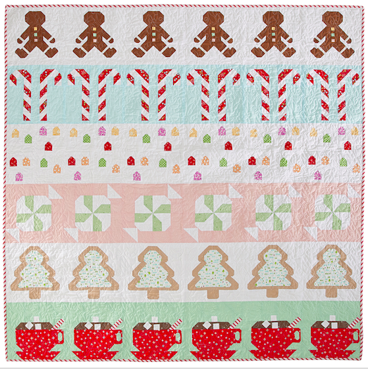 Love Patchwork Quilting Gingerbread House row quilt pattern