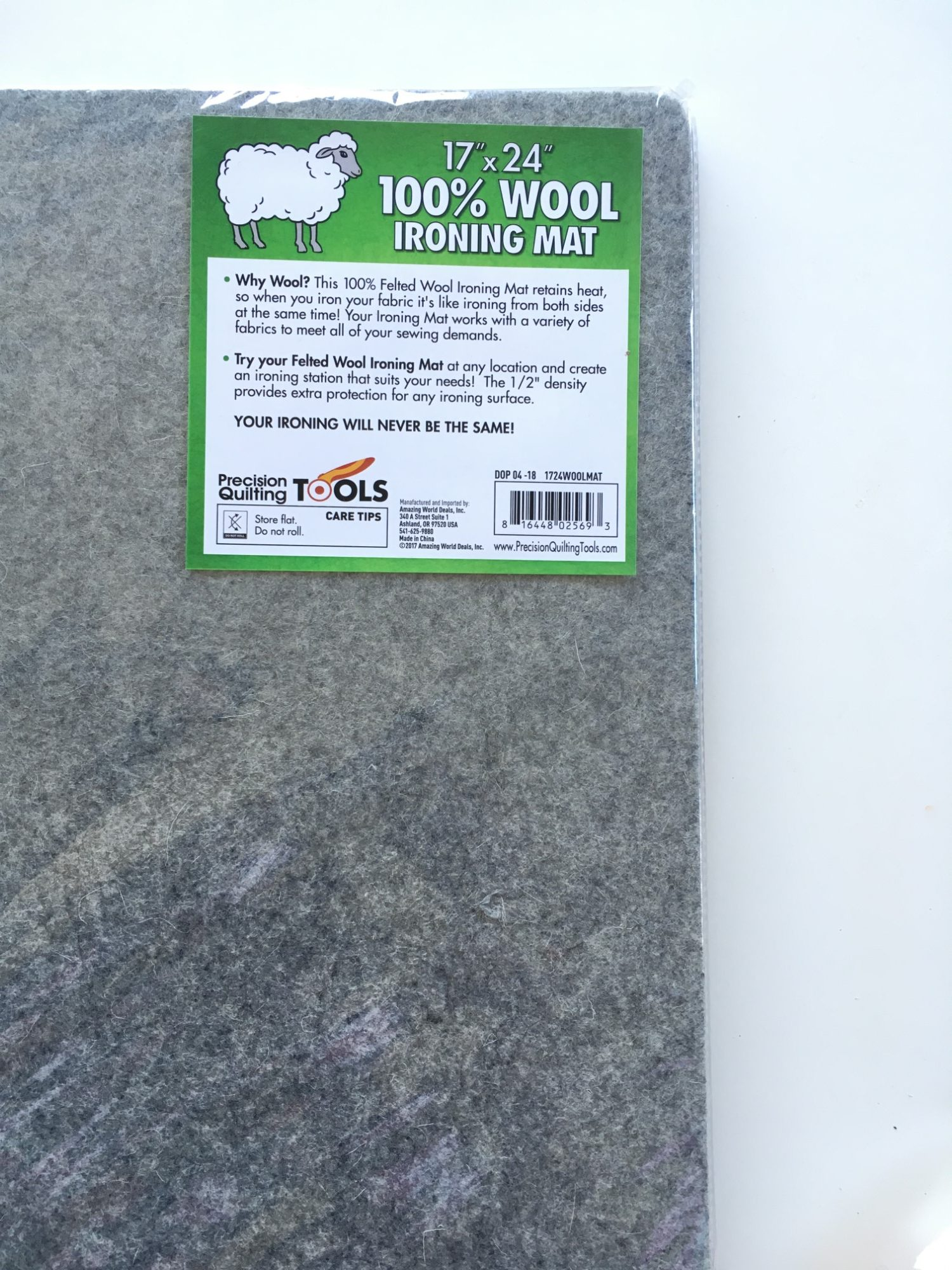 100/% New Zealand Wool Pressing Pad 17 x 24 Wool Ironing Mat Perfect Ironing Station for Quilting!