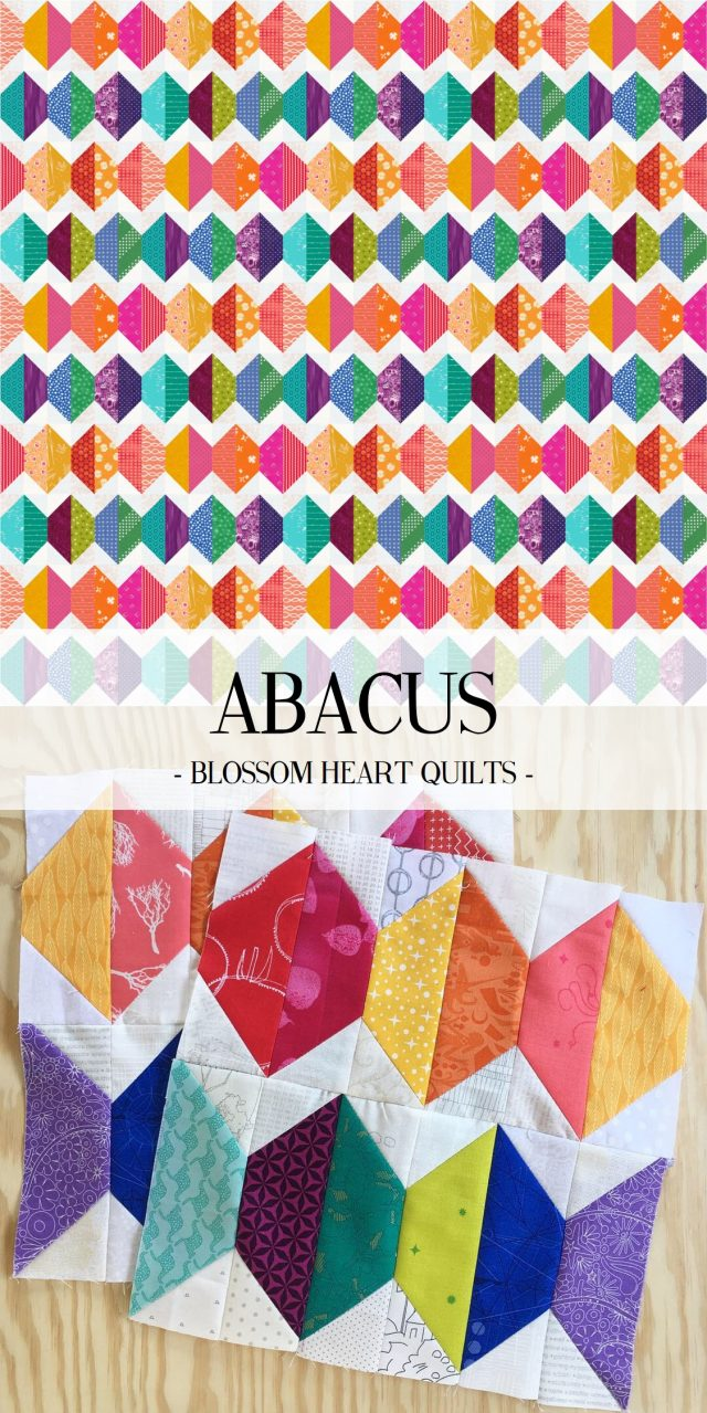 Warm vs cool brights Abacus quilt by BlossomHeartQuilts.com and EQ8